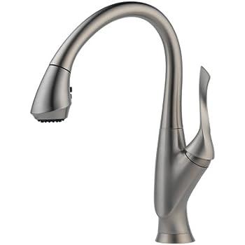 Brizo 63052lf Ss Belo Kitchen Faucet Single Handle Pull