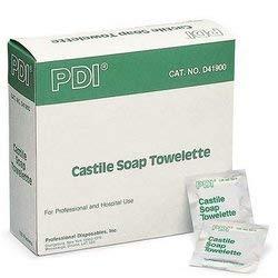 PDI D41900 Castile Soap Towelette, Case, 10 Boxes, 1000 Towelettes, by PDI Healthcare