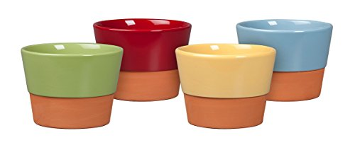 New England Pottery Glazed Fern Azalea Assortment Pot, - Azalea Pot