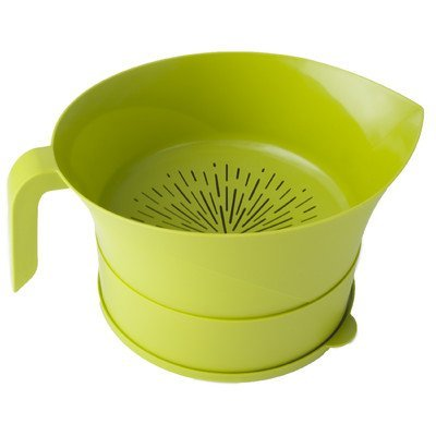 Green Kitchen Bowl - Kitchen Strainer Set Plastic Green 3 Pc High Quality Colander Storage Bowl with Handle