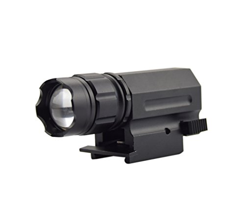 Feyachi 220 Lumen Tatical Weaver Mount Pistol/Rifle LED Flashlight Quick Release For 20mm Picatinny Rail