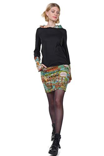 3elfen Vestidos A Mujer Capucha Invierno Minfalda Con Wimmel PP1dqFr