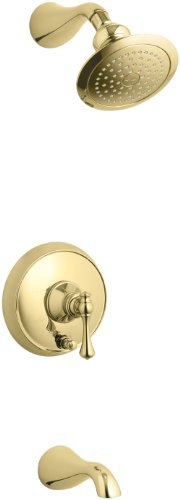 KOHLER K-T16115-4A-PB Revival Rite-Temp Pressure-Balancing Bath and Shower Trim, Vibrant Polished Brass