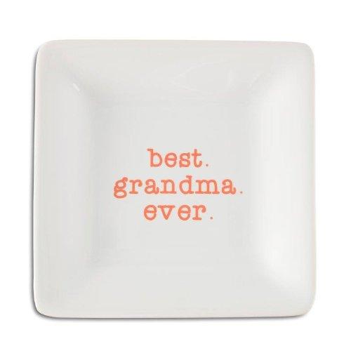 - Pavilion Gift Company 14033 Best Grandma Ever Ceramic Keepsake Dish, 4-1/2-Inch