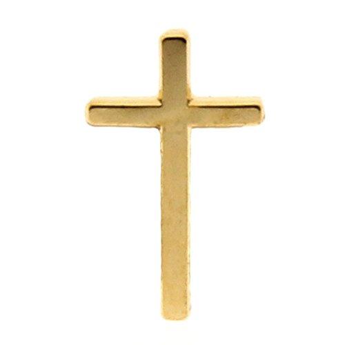 Gold Cross Lapel Pin Gold (24 Pins) Christian