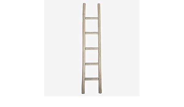 Better & Best 2125033 Escalera decorativa de madera imitando bambú en gris decapado de madera , gris: Amazon.es: Hogar