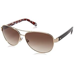 Kate Spade Women's Dalia2/s Round Sunglasses, GOLD HAVANA, 58 mm