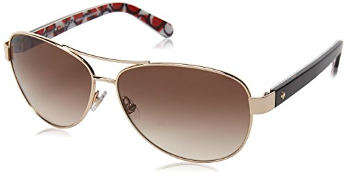 Kate Spade Women's Dalia 2 Aviator Sunglasses, Gold Dots & Brown Gradient 135 - Kate Amazon Spade Sunglasses
