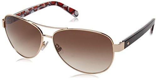 Kate Spade Women's Dalia 2 Aviator Sunglasses, Gold Dots & Brown Gradient 135 - Sunglasses Spade Kate Amazon