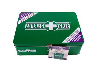 Edibles Safe - Lockable Food Storage Box for Edibles and Medical Marijuana Edibles from Hempy Holidaze LLC