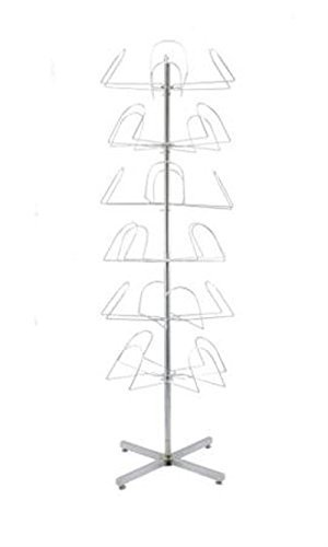 Retails 6 Tier Bright Zinc Finished Floor Standing Hat Rack 64'' H X 21'' by hat Rack
