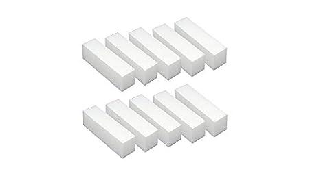 10PCS White Sponge Nail File Buffer Buffing Sanding Block Grit Manicure Nail Shaping Tool