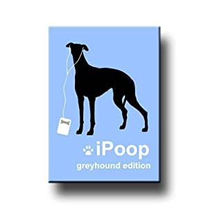 Greyhound iPoop Fridge Magnet
