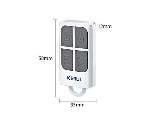KERUI Au/ßensirene Solar SJ1 Wasserdichte Sicherheitstechnik Erweiterbar Alarmsirene mit 110 dB Au/ßensirene mit Blitzlicht