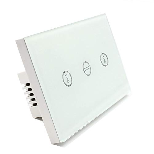 US Type Wifi Smart Curtain Motor Switch APP or Voice Control by Alexa Echo AC110 to 240V Work with Electric Roller Blinds Curtains Motor with Control Wires Home Automation IFTTT by zemismart