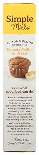 Simple Mills Almond Flour Baking Mix, Gluten Free Banana Bread Mix, Muffin Pan Ready, Made with whole foods, (Packaging May Vary), 9 Ounce 7