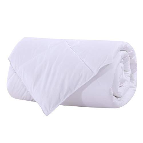 Royal Bedding Abripedic Bamboo Fiber Filled Blanket, Down Alternative Duvet Insert, 100% Cotton Shell, Breathable, Hypoallergenic, Full/Queen Size, White