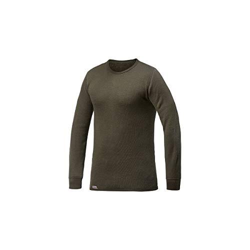 Manche Ullfrotté 200 shirt Rond Woolpower Longue Vert Noir Gr T Col Tqw6BU