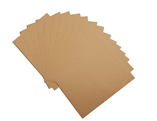 - Couga Mall A4 Blank Brown Kraft Paper Stickers Labels, Self-Adhesive & Printable Copy Label Paper for Laser & Inkjet Printer Gift Decoration, 25 Sheets (25 Sheets, 1)
