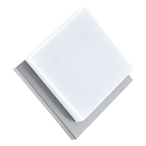 Eglo - Aplique de exterior infesto1 led inox/blanco 94877