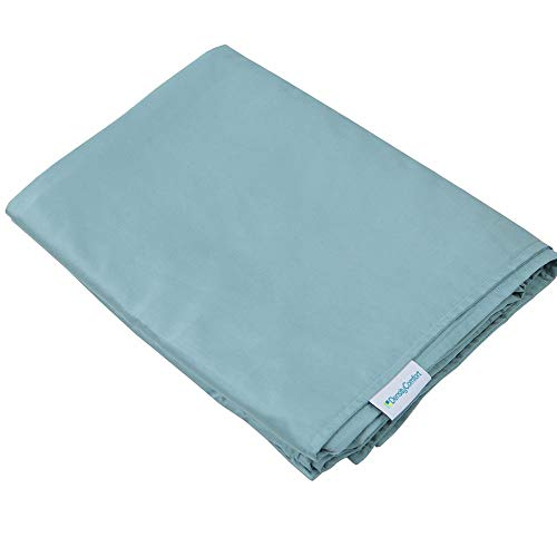 DensityComfort Duvet Cover for Weighted Blanket | Adult 48x72 | Cooling Bamboo | Mint Blue | Machine Washable (Duvet Loop Organic Cover)