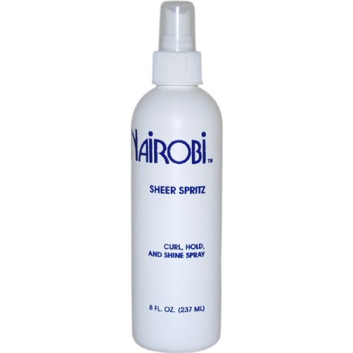 Sheer Spritz Curl Hold and Shine Spray By Nairobi for Unisex Hair Spray, 8 Ounce