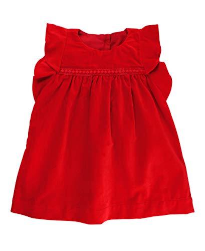 - RuffleButts Baby/Toddler Girls Red Velvet Jumper Dress - 0-3m