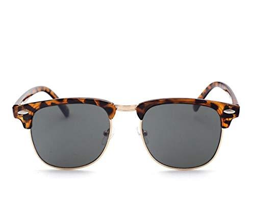 Moda Medio hombres de de sol UV400 leopardo Gafas Hombres de los para gafas Mujeres sol viajar gafas de Conducción Olive de de sol protección estilo de Green xpIq57YwwW