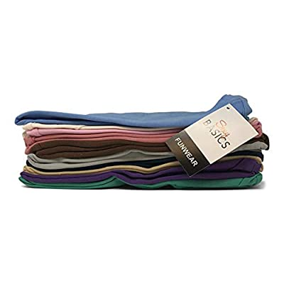 Sexy Basics Women's 5 Pack & 10 Pack Casual & Active Basic Cotton Stretch Color T Shirts at Women's Clothing store