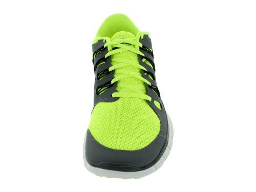 Nike Heren Gratis 5.0+ Ademen Loopt Volt / Zwart / Cool Grijs / Smmt Wht Synthetische Schoen - 10,5 D (m) Ons