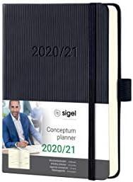 SIGEL C2102 Wochenkalender 2020/2021, 18 Monate, ca. A6, schwarzes Hardcover, Conceptum - weitere Modelle