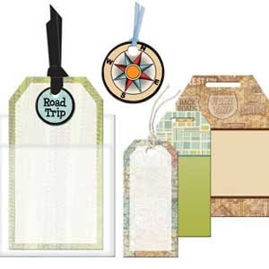 Traditional Road Trip American (Road Trip Tags for Scrapbooking (EM1151))