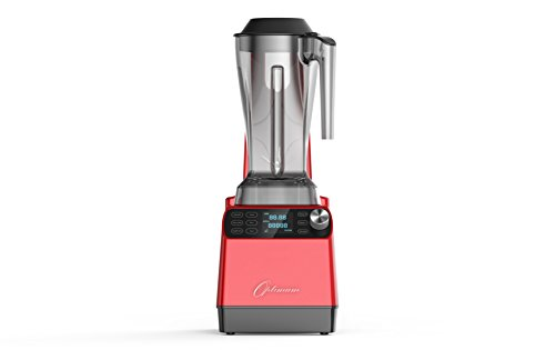 Optimum Vacuum Sealed Auto High-Speed Blender VAC2 with BPA-Free Components, Quiet Blender, Virtually No Foam, Heavy Duty Motor 2238W, Tamper Tool, 10 year Warranty (Red)