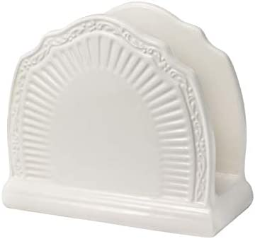 Amazon Com Mikasa 5235454 Napkin Holder Measures 6 1 2 Inch Long X 3 1 4 Inch Wide X 6 Inch High White Kitchen Dining