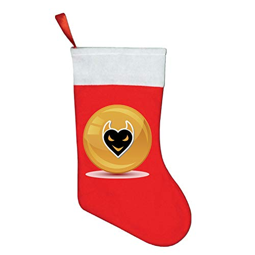 WYFG Cute Christmas Mini Stocking Great Gift Devil Halloween Heart Black Icon Signet Party Favors Supplies Decorative 3D Rustic Stockings Goodies Bags