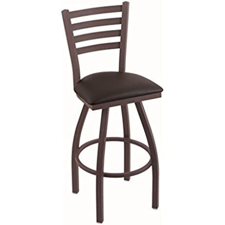 Holland Bar Stool Co 410 Jackie 36 Bar Stool With Bronze Finish And Swivel Seat Allante Espresso