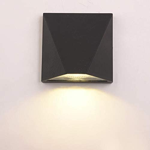 LUMINTURS 12W LED Outdoor External Wall Sconces Door Gate Light Waterproof Fixture lamp Black Warm White