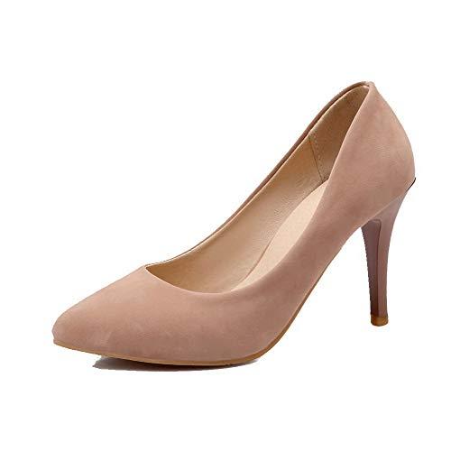 Tire Pointu Stylet Agoolar Femme Couleur Unie L Chaussures BxqwAP6