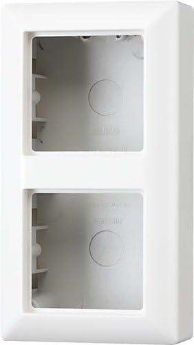 Jung AS582AW - Caja de conexión con Marco embellecedor (para 2 enchufes): Amazon.es: Bricolaje y herramientas