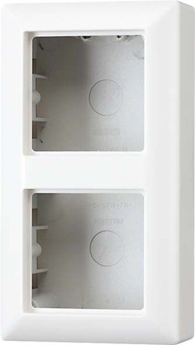 Jung AS582AW - Caja de conexión con marco embellecedor (para 2 enchufes)
