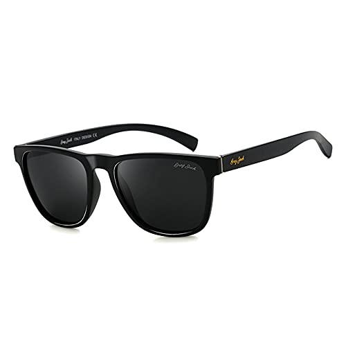 GREY JACK TR90 Polarized Sunglasses for Men Women UV400 Protected Rectangular 1226