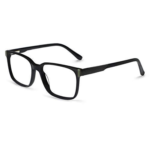 OCCI CHIARI Optical Eyewear Non-prescription Eyeglasses Frame Clear Lense Glasses Black RX