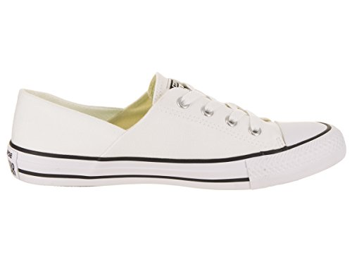 Womens Ox Black White Converse Chuck Taylor Canvas White Trainers Coral dqwxT1wI