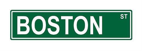 Boston St. Street Sign 24x6 funny joke humor novelty metal aluminum sign