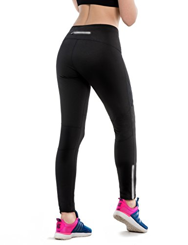 Safort Woman Windproof Cycling Jogging Pants For Spring/Autumn, Not Padded, Thermal, Fleece Lined, Zip Pocket, - Pants Cycling Women's Thermal