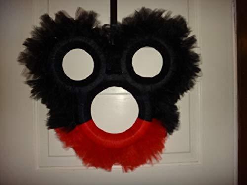 Mickey or Minnie Mouse Head Wreath
