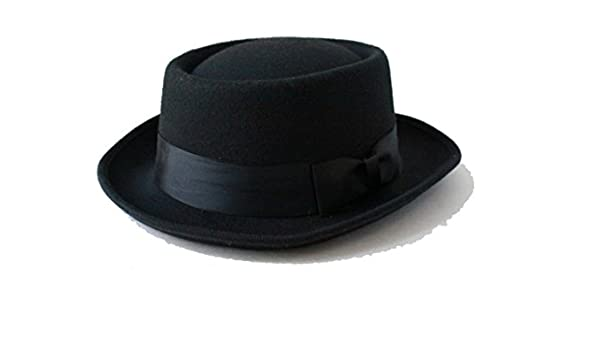 48d8554efe0 Amazon.com  Halloween Cosplay Walter Dr. White Heisenberg Style Gangster Black  Party Hat  Clothing