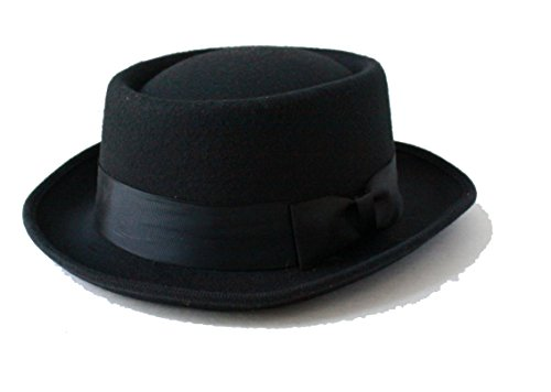 Halloween Cosplay Walter Dr. White Heisenberg Style Gangster Black Party Hat ()