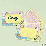 24 Baby Shower Name Tags