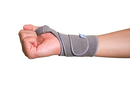 MagicWrap - Self Adhesive Adjustable Wrist Support Wrap Professional Grade with Thumb Loops Wrist Support Braces for Men & Women Weight Lifting (Gray) (Nike Adjustable Headphones)